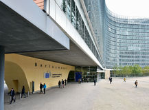 Building of the European Commission headquarter in Brussels Royalty Free Stock Photos