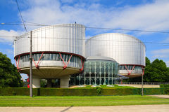 Building of the European Court of Human Rights Royalty Free Stock Photos