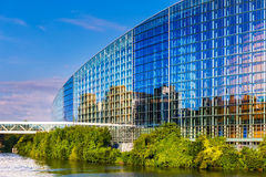 The building of European Parliament in Strasbourg. STRASBOURG, FRANCE, AUGUST 06 2016. The building of European Parliament in Strasbourg Stock Image