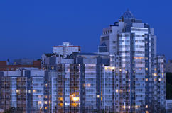 Building evening vladivostok russia Royalty Free Stock Image