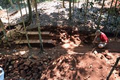 BUILDING excavation TEMPLE Stock Images