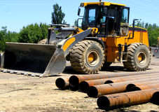 Building excavator of the loader Stock Photography