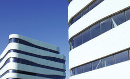 Building Exterior. Modern Building Exterior on a blue sky Royalty Free Stock Images