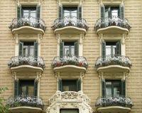 Building exterior, Barcelona Stock Image