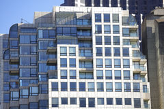Building exterior with blue tinted glass Royalty Free Stock Photo