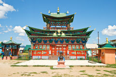 Building exterior of Buddhist monastery Stock Photo