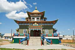 Building exterior of Buddhist monastery Stock Images