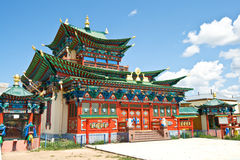 Building exterior of Buddhist monastery Royalty Free Stock Photography