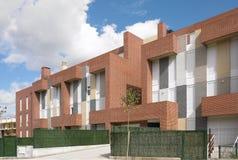 Building exterior concrete and brick construction Stock Photo