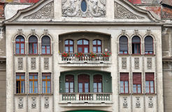 Building exterior detail Timisoara Romania. Old building exterior detail Timisoara Romania royalty free stock images