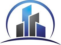Building exterior logo concept. Has been created as vector Royalty Free Stock Photography
