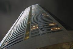 Building Exterior, Night II. Exterior of a Hong Kong skyscraper at night Royalty Free Stock Photos