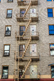 Building with exterior stairs Stock Photography