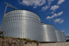 Building Exterior, Storage and drying of grains Stock Images