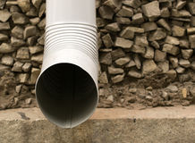 Building Exterior Water Drain Pipe Stock Photography