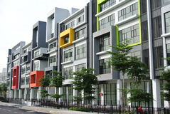 Building façade design with pattern and colours Stock Image