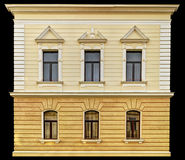 Building facade. Old style building facade with decorations stock image