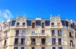 Building facade in Barcelona Royalty Free Stock Photography
