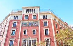 Building facade in Barcelona, Spain Stock Image