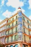 Building facade in Barcelona, Spain royalty free stock photo