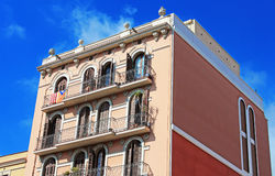 Building facade in Barcelona, Spain Royalty Free Stock Photos