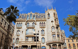 Building facade in Barcelona, Spain Royalty Free Stock Photo