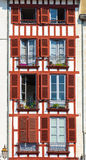 Building facade in Bayonne Stock Image