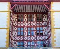 Building facade in Bayonne. France Royalty Free Stock Photos