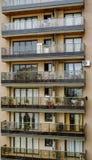 Building facade. Brown building facade in Argentina Royalty Free Stock Photos