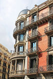 Building facade in the city of Barcelona Stock Photos