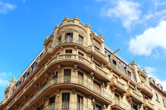 Building facade in the city of Barcelona stock photography