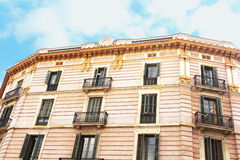 Building facade in the city of Barcelona, Spain Royalty Free Stock Photo