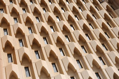 Building Facade in Dubai Stock Photography