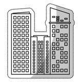 Building facade estate cut line. Illustration eps 10 Stock Image