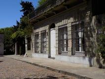 Building Facade. Façade of a building in the town of Colonia de Sacramento, Uruguay royalty free stock photography