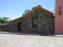 Building Facade. Façade of a building in the town of Colonia de Sacramento, Uruguay stock image
