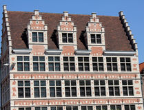 Building facade in ghent Royalty Free Stock Images