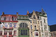 Building facade in Ghent. Front of some old buildings in Ghent Belgium Royalty Free Stock Photos