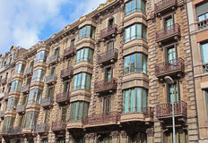 Building facade of great architectural interest in Barcelona Stock Image