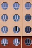 Building Facade with  Hexagonal Windows. Stock Photography