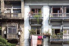 Building facade, Kolkata, india Stock Photography