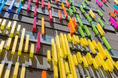 Building with facade of modern art. Building with facade of modern colorful art Royalty Free Stock Photos