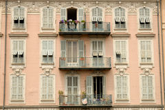 Building facade in Nice France Royalty Free Stock Images