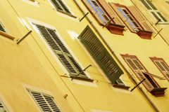 Building facade, the old Nice Stock Photography
