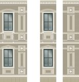 Building facade parts Stock Images