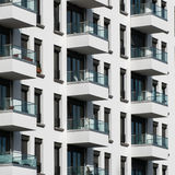 Building facade - real estate exterior Royalty Free Stock Images