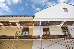 Building facade renovation Stock Photo