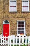 Building facade of a residential house in London Stock Photography