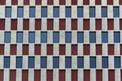 Building facade rows of windows Stock Photo