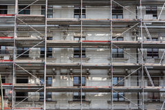 Building facade , , scaffolding - construction site Stock Images